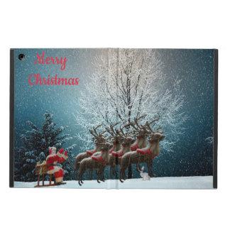 Père Noël et son coque ipad de rennes