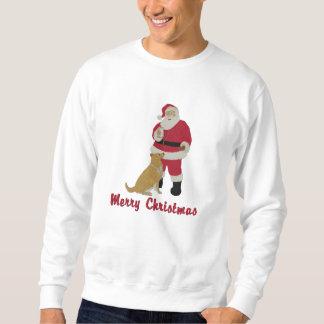 Père Noël et sweatshirt de Noël brodé par chien