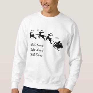 Père Noël et sweatshirt fait sur commande de Noël