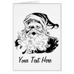 Père Noël heureux Carte De Vœux