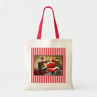 Père Noël le sac fourre-tout à Noël de musicien