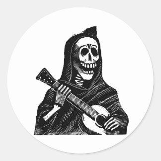 Père Noël Muerte avec la guitare circa les années Adhésifs Ronds