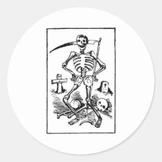Père Noël Muerte, les années 1900 tôt mexicaines Sticker Rond