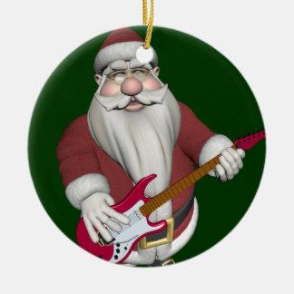 Père Noël musical jouant la guitare électrique Ornements De Noël