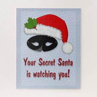 Père Noël secret observant - puzzle de flocon de