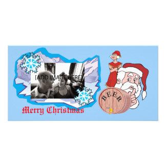 Père Noël sournois sournois, [ajoutez l'image] Cartes De Vœux Avec Photo