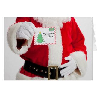 Père Noël supportant la carte