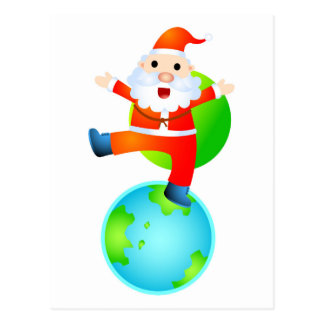 Père Noël sur le toit du monde Carte Postale