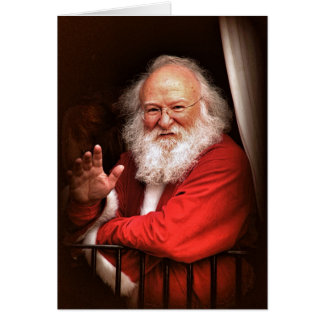 Père Noël sur les cartes de Noël de train