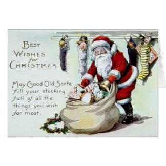 Père Noël vintage Cartes De Vœux