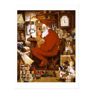 Père Noël vintage dans la carte d'atelier