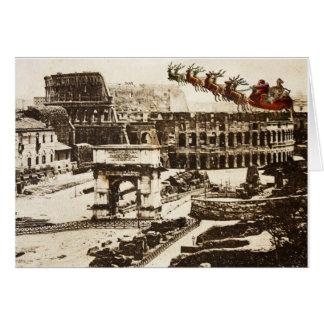 Père Noël vintage dans la carte de Noël de Rome