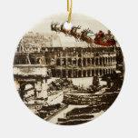 Père Noël vintage en ornement de Noël de Rome Ital