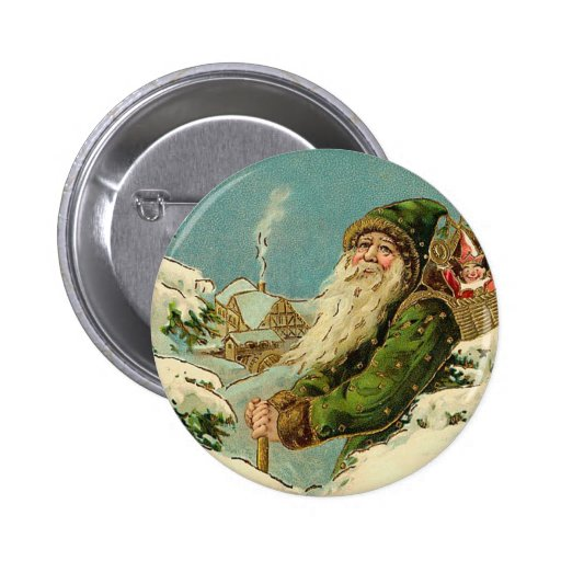 Père Noël vintage - Joyeux Noel Badges