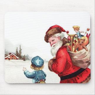 Père Noël vintage Tapis De Souris