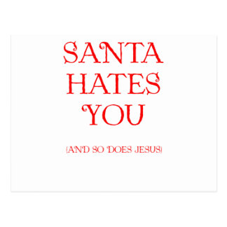 Père Noël vous déteste Carte Postale