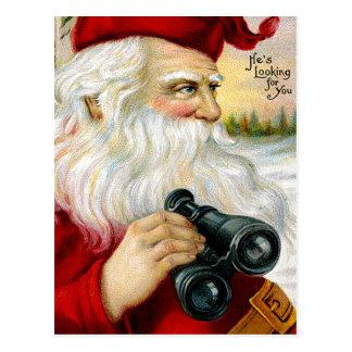 Père Noël vous regardant Carte Postale