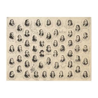 Pères fondateurs 1876 impressions sur bois