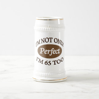 Perfectionnez 65 ans chope à bière
