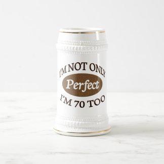 Perfectionnez 70 ans chope à bière