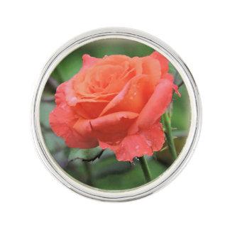 Perfectionnez rose dans la photographie de pluie pin's