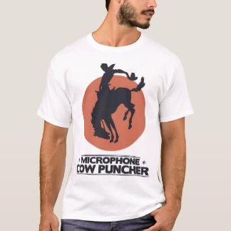 Perforateur de vache à microphone t-shirt