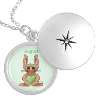 Peridot de pierre porte-bonheur de lapin d'août pendentif