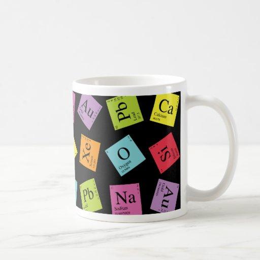 Périodiques élémentaires (foncé) mug