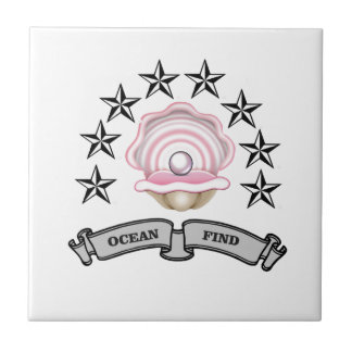 perle de découverte d'océan carreau