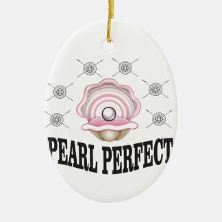 perle parfaite ouais ornement ovale en céramique