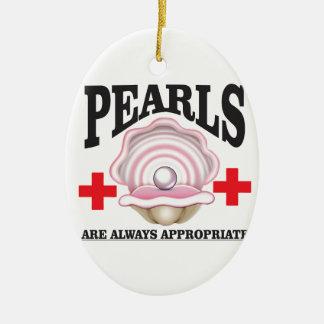 perles appropriées ornement ovale en céramique
