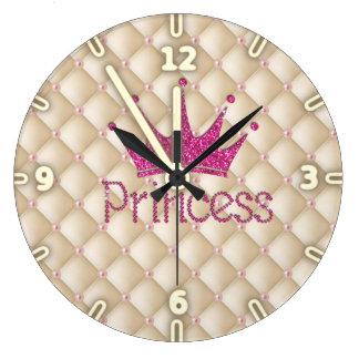 Perles chics avec du charme, diadème, princesse, grande horloge ronde