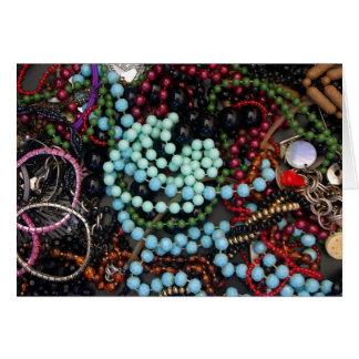 Perles colorées cartes
