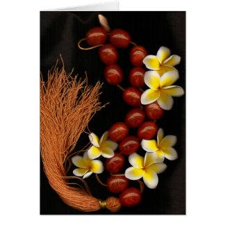 Perles et fleurs cartes