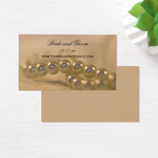 Perles tordues épousant la carte de site Web
