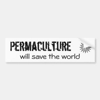 Permaculture, sauvera le monde autocollant de voiture