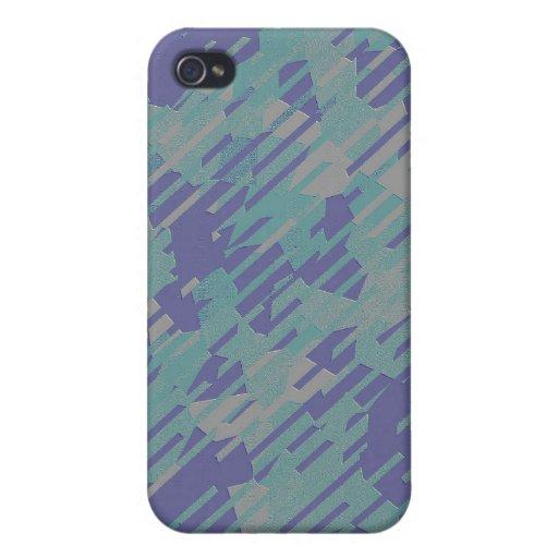 Pern abstrait dans pourpre, vert, et kaki coques iPhone 4/4S