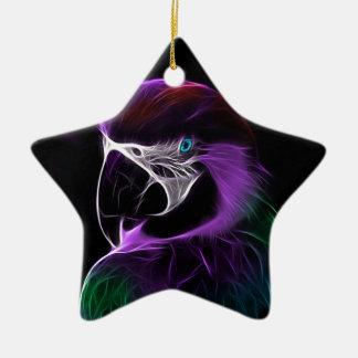 perroquet #2 ornement étoile en céramique