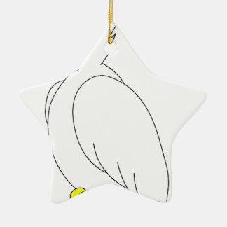 perroquet #3 ornement étoile en céramique