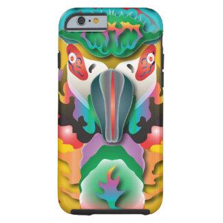 Perroquet abstrait coque tough iPhone 6