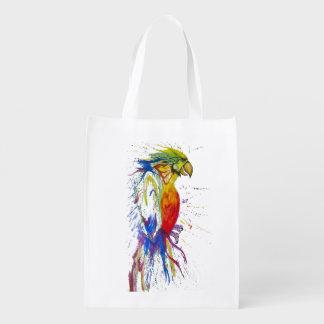 Perroquet animal d'oiseau sac d'épicerie