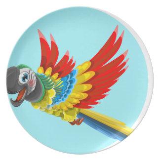 perroquet assiette