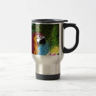 Perroquet d'arums mug de voyage