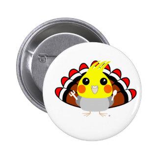 Perroquet de Cockatiel chez le thanksgiving de Badge