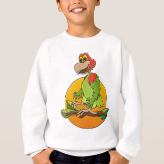 Perroquet dirigé rouge sweatshirt