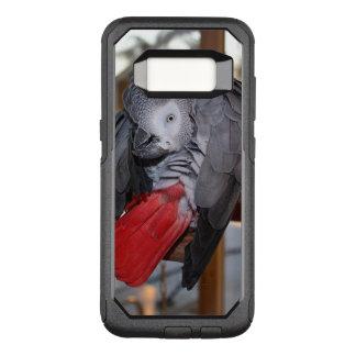 Perroquet flexible de gris africain du Congo avec Coque Samsung Galaxy S8 Par OtterBox Commuter