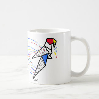 Perroquet origami mug
