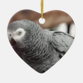 Perroquet Ornement Cœur En Céramique