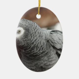 Perroquet Ornement Ovale En Céramique