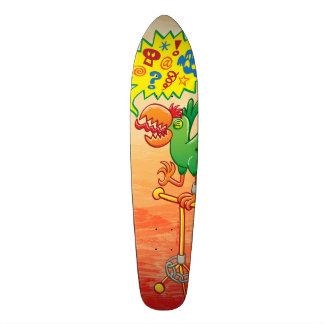 Perroquet vert furieux indiquant de mauvais mots skateboards personnalisables
